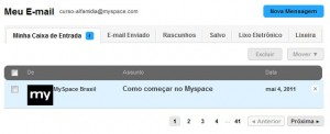 Caixa de e-mail do Myspace