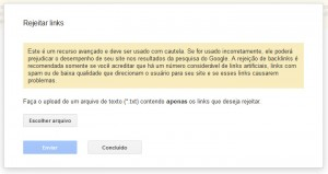 O Google Disavow Tool para rejeitar links