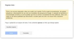 O Google Disavow Tool para rejeitar links