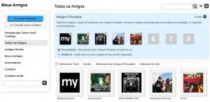Sugestões de amigos no Myspace