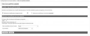 Criação de perfis no Google Analytics
