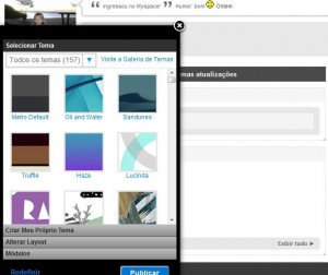 Temas personalizados no Myspace