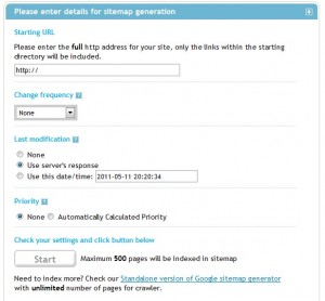 Criar um xml sitemap para seu website